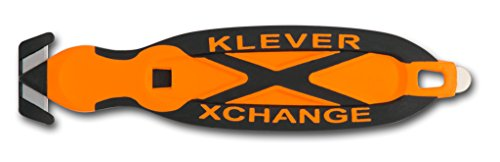 Klever XChange, Safety Box Cutter Knife, Orange (Color Knife Change)