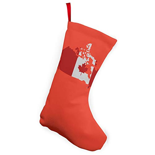 Canadian Map With Canada Flag Christmas Stockings Christmas Xmas Tree Fireplace Decoration -