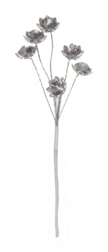 Strass-Dekosticks/Flores form 4 Bd plata