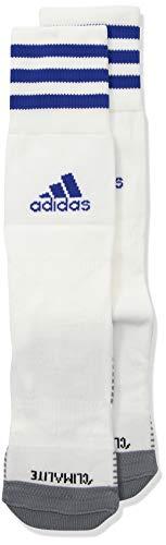 - adidas Copa Zone Cushion IV Soccer Socks (1-Pack), White/Bold Blue, 5-8.5