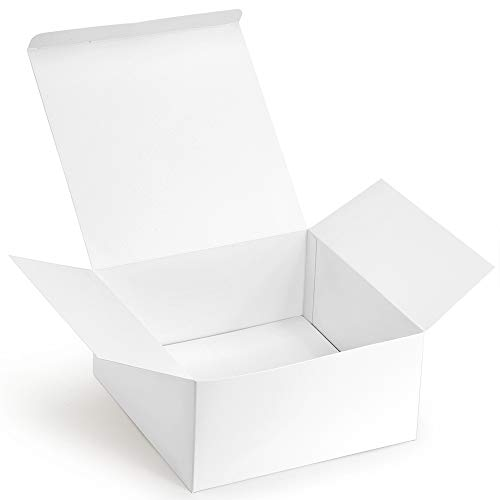 ValBox Premium Gift Boxes 12 Pack 8 x 8 x 4 Whie Paper Gift Boxes with Lids for Gifts, Crafting Cupcake Boxes, Easy Assemble Boxes ()