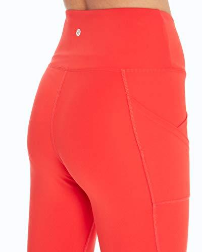 Bally Total Fitness High Rise Pocket Mid-Calf Legging, Hibiscus, Medium