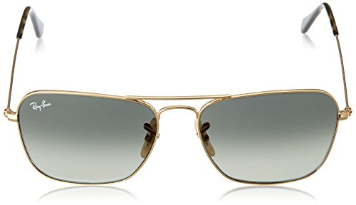 23ae0a21314 Amazon.com  Ray-Ban CARAVAN - GOLD Frame DARK GREEN Lenses 58mm  Non-Polarized  Ray-Ban  Clothing