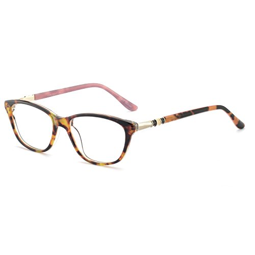 - OCCI CHIARI New Rectange Colorful Eyewear Frame With Clear Lens For Womens (Pink, 50)