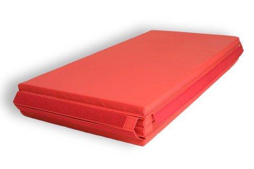 """Gymnastics Super Mat 2' Panel 4'X8'X1-3/8"""" V-4 Red"""