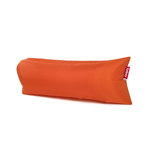 Fatboy Lamzac The Original Version 1 Inflatable Lounger with Carry Bag, Inflatable Couch for Indoor or Outdoor Hangout or Inflatable Lounge Air Chair - Orange