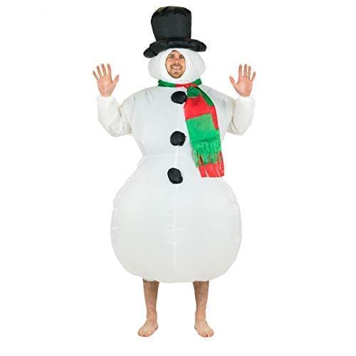 Bodysocks® Costume Gonfiabile da Pupazzo di Neve per Adulti