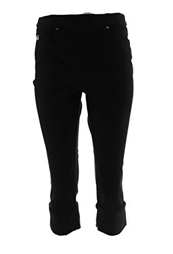 Belle Kim Gravel Flexibelle Pull-On Cuffed Capri Jeans Black 28W New A305595 from Belle by Kim Gravel