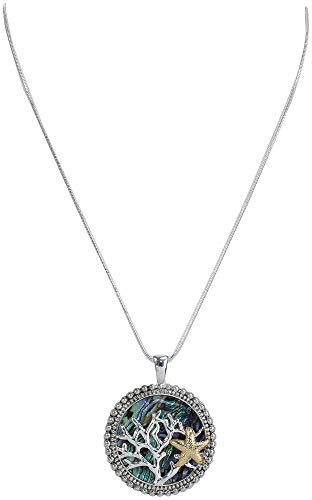 PIPER MADISON Shell Coral Reef & Starfish Pendant Necklace One Size Two Tone Multi ()