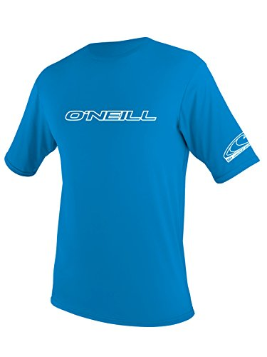 O'Neill Wetsuits Wetsuits UV Sun Protection Youth Basic Skins Short Sleeve Tee Sun Shirt Rash Guard, Bright Blue, 10 (Shirts Oneill Rash Guard)