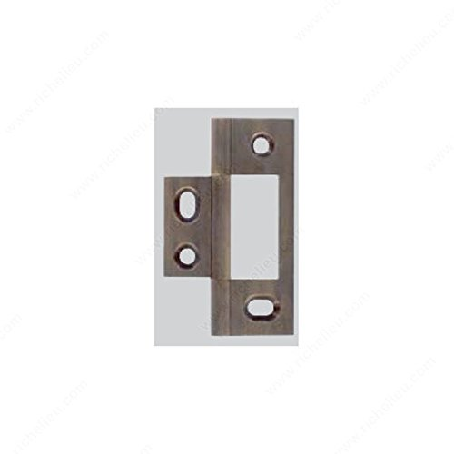 Solid Brass Hinge - Non-Mortise, Finish Polished Nickel (Hinge Polished Mortise Nickel Non)