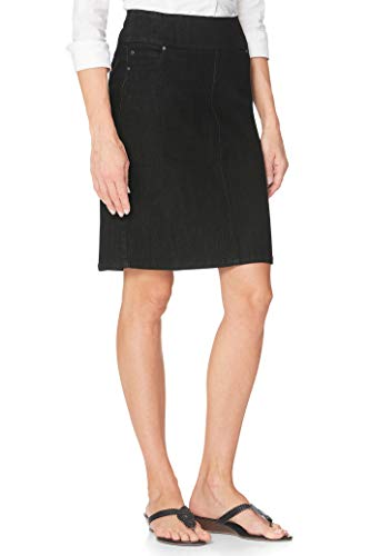 Chadwicks of Boston Comfort Waist Womens Denim Skirt, Jean Skirts