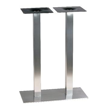 Durchschnittliche Tischhöhe pch 2487 fußkreuz tisch höhe 87 cm aus gebürstetem edelstahl ultra