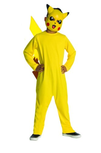 Pokemon Child's Pikachu Costume - One Color - Large - Famous Costumes For Halloween
