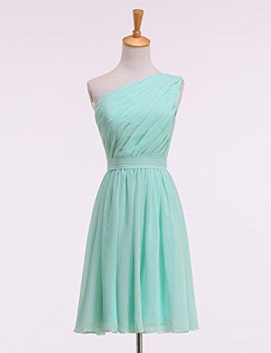 plissiertes Brautjungkleid KekeHouse® Tochter Knielang Grün Kleid Ein Schulter Blumenmädchenkleid Abendkleid Mutter nwS6qFxYB6