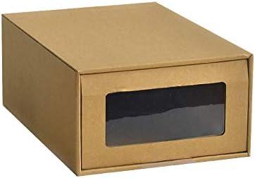 Z@SS Caja de Almacenamiento de Zapatos de Papel Kraft Soporte para Zapatos Deportivos Organizador de Maquillaje Contenedor de Tacones Altos Caja de Zapatos DIY, 4 Piezas,21 * 30 * 12cm: Amazon.es: Hogar