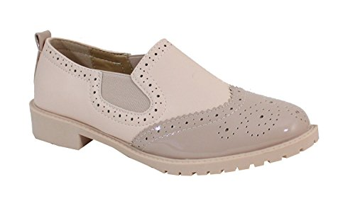 Rose By Derbies Plate Femme Style Shoes Chaussure xffSw4qYH