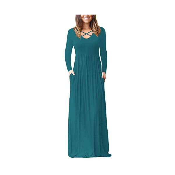 5f75fa96b4 Home / Long Sleeve / INFITTY Women's Loose Plain Long Sleeve Sleeveless  Racerback Maxi Dresses Casual Long Dresses with Pockets
