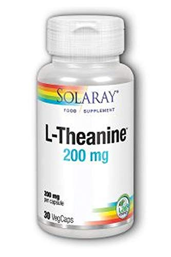 - Solaray L-Theanine Chewable Supplement, 200 mg, 30 Count