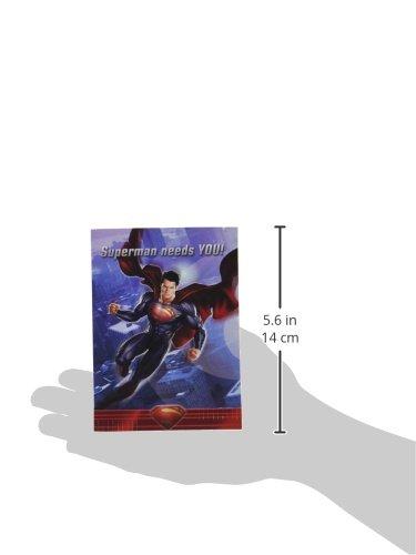 Amazon.com: Superman Man of Steel invitaciones y notas de ...
