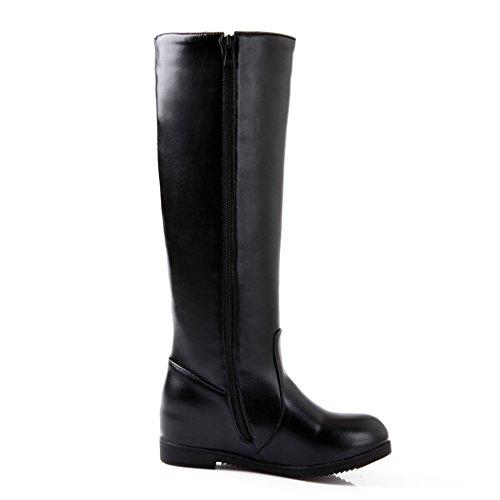 lampo stivali basso lato aumentato Stati L Natale dimensioni Europa stivali scarpe cerniera il e Uniti tacco di ZQ gli alti QXregalo black è pTvnRwq6