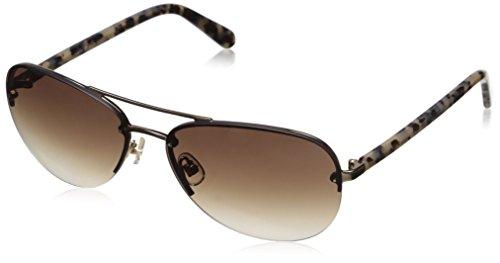 Kate Spade Women's Beryl Aviator Sunglasses, Gold/Brown Gradient, 59 - Beryl Sunglasses