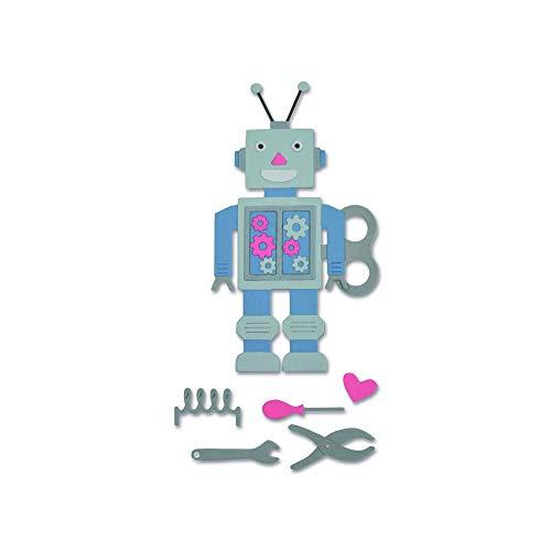 Sizzix 663315 50's Robot Dies, One Size, Multicolor ()