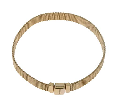 PANDORA Shine Reflexions Bracelet, Size: 17cm, 6.7 inches - 567712-17 (Gold Pandora)
