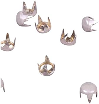 """and Metal Punk silver SPIKE-CONE BULLDOG 1/"""" BRASS bag of 10 SPIKES.Gothic"""