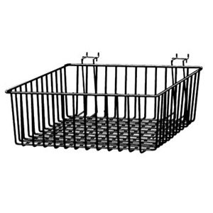 Black Multi Basket Slatwall Gridwall Pegboard Slatgrid 24'' W x 12''D x 4''H LOt of 6 - New