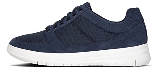 Midnight 45 Mix UP 11uk Navy Sneaker Navy TOURNO Lace FitFlop Suede Midnight WxqYn6BX8