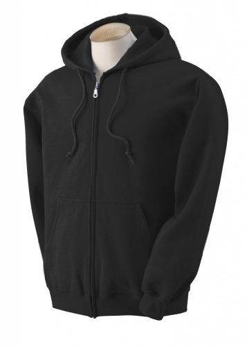 Gildan Adult Heavyweight Blend Full-Zip Hooded Sweatshirt - Black, 2XL