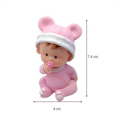 Doge Bebé niña en pijama con chupete rosa, 7,4 x 4 cm ...