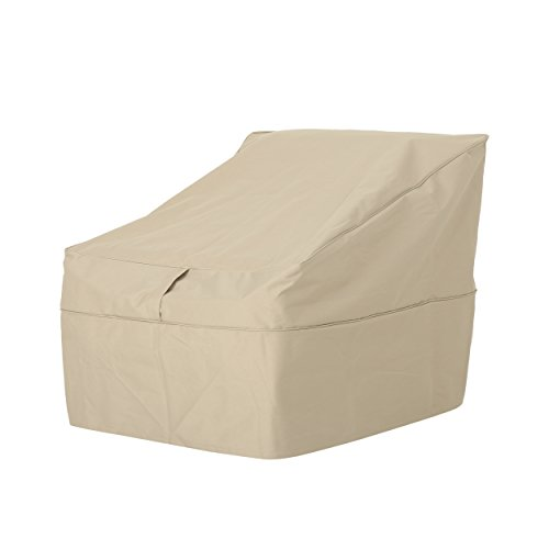 Christopher Knight Home 305099 Charlene Outdoor 30 Waterproof Club Chair Cover, Beige