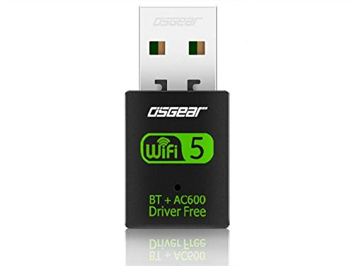 OSGEAR 600Mbps USB2.0 2in1 WiFi Wireless WLAN Card Bluetooth Network Dongle Adapter BT External Portable
