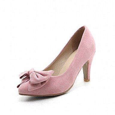 Talones de las mujeres Primavera Verano Otoño Invierno Comfort novedad de la PU de cuero oficina y carrera banquete de boda y vestido de noche tacón grueso informal Pink