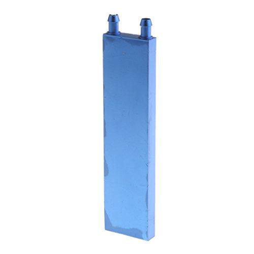 Baoblaze Water Cooling Block Radiator Liquid Cooler Aluminum For Computer Radiator DIY Warm Aluminum Block Heatsink - Blue, 40x160mm (Cooling Aluminum Head Heatsink)