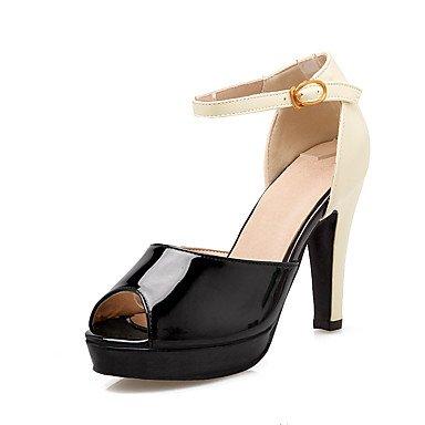 LvYuan Mujer-Tacón Robusto-Zapatos del club-Sandalias-Oficina y Trabajo Vestido Informal-PU-Negro Azul Rosa Pink