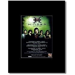 HINDER - UK Tour 2007 Mini Poster - 13.5x10cm