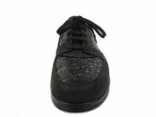 de negro para Finn mujer Comfort cordones 901654 03750 de Zapatos Piel qY8vwq