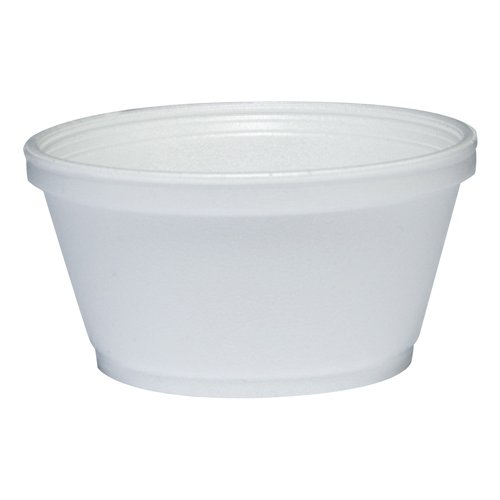 DART Foam Container, 1000/Carton, 8 oz, White