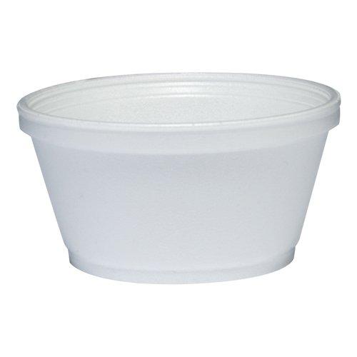 DART Foam Container, 1000/Carton, 8 oz, - Containers Styrofoam Soup