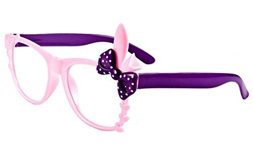 Kinder-Party-Dekoration Glas-Rahmen-Brillen Lila und rosa