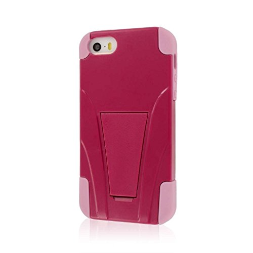 MPERO IMPACT X Série Béquille Case Étui Coque for Apple iPhone 5 / 5S - Hot Pink Rosa / Pink Rosa