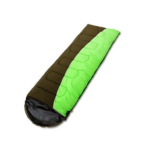 Schlafsäcke LCSHAN Polyester Erwachsene Dicke Warme Camping Reise FeuchtigkeitsBesteändige Daunen Baumwolle (Kapazität   C, Farbe   Grün)
