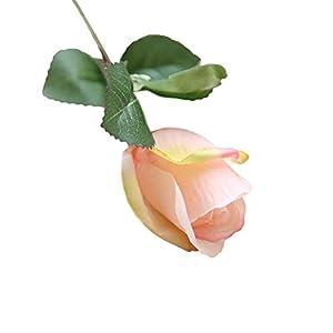 MARJON Flowersrtificial Flowers,Fake Flowers Silk Flowers Dried Flowers Valentine Gift Vintage Bouquet 6 Pcs Pretty DIY Artificial Silk Fake Flowers Rose Floral Wedding Home Decor 69