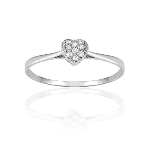 CLEOR - Bague CLEOR Or 375/1000 Diamant 0.05 carat - Femme