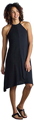 (ExOfficio Women's Wanderlux Stretch Halter Dress, Black,)