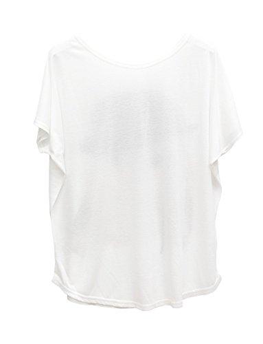 Ma Coquette - Camiseta - Cuello redondo - Manga corta - para mujer blanco