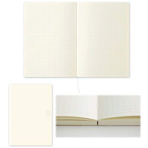Midori MD Notebook - A5 Grid Paper (15003006 ) + MDnotebook jacket A5 -light and stout paper-(49841006) --VALUE SET !!